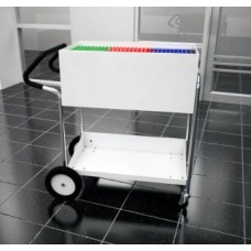 """Medium Solid Metal Mail Delivery Cart with 10"""" Rear Tires and Easy Push Handle"""