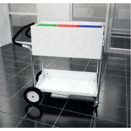 Medium Solid Metal Mail Delivery Cart With 10 Quot Rear Tires