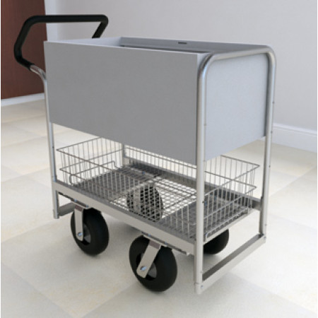 Ergo Handle Solid Metal Mail Delivery Cart With 2