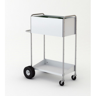 """52"""" High Boy Medium Solid Metal Mail and File Cart."""