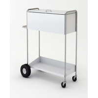 "52"" High Boy Medium Solid Metal Mail Distribution Cart with Locking Top."
