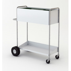 """Charnstrom Mail Room Carts 52"""" High Boy Long Solid Metal Mail Distribution Cart"""