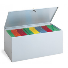 Grey Locking File Box