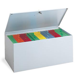 Grey Locking File Box