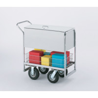 Security Medium Metal Mail Delivery and File Cart with 3 Different Wheel Options.