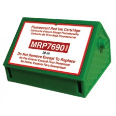 4 Pack Fluorescent Red Ink Cartridge Replaces Pitney Bowes 769-0.