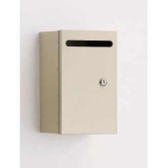 Mail Room and Office Mailing Supplies Steel Wall Mount Mail Drop Box - Small