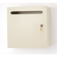 Mail Room and Office Supplies Steel Wall Mount Mail Drop Box - Medium