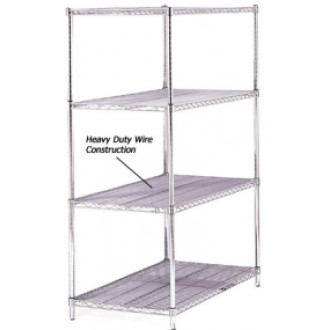 """Mailroom Supplies 60""""W x 18""""D Steel Wire Shelving"""