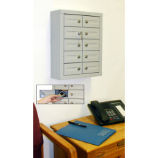 "10 Door Cell Phone Cabinet - 5""D"