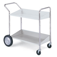 Charnstrom Mail Center and Office CartsTwo Shelf Mobile Bin Cart
