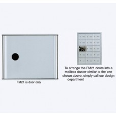 "6""W x 5""H Front Loading Mailbox Cluster Door - 15-1/2""D"