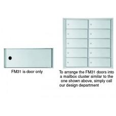 "12""W x 5""H Front Loading Mailbox Cluster Door - 15-1/2""D"