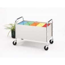 Office and Mail Room Carts File Bin Cart