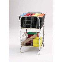 Compact Office Mail Distribution and File Cart without Casters