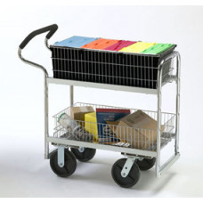 "Mail Room and Office Carts Medium Ergo Mail or Office Cart with Hard Rubber 8"" Casters"