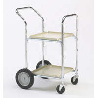 Two Shelf Compact Office and Mail Room Cart