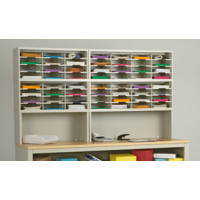 "Mail Room Furniture or Office Organizer - 84""W x 15-3/4""D 56 Pocket Sorter with Riser/11-1/2""W Shelves"