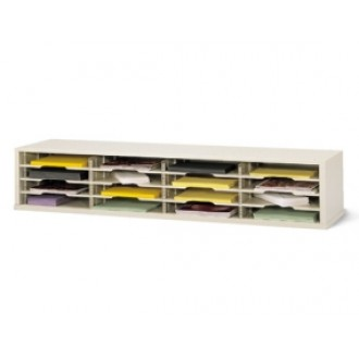 "Mail Room Furniture and Office Organizer - 60""W x 17""D, 16 Pocket Extra Deep Sorter with 14-1/2""W Shelves"