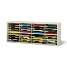 "Mail Room Furniture and Office Organizing Consoles 60""W x 17""D, 32 Pocket Extra Deep Sorter with 14-1/2""W Shelves"