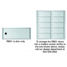 "Mailboxes Commercial and Residential 12""W x 5""H, Rear Loading Mailbox Door (One Door Only)"