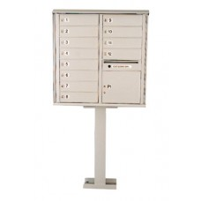 Mailboxes Residential and Commercial Front Loading Cluster Box Unit, 12 Tenant Doors, 1 Parcel Locker and 1 Outgoing Mail Slot