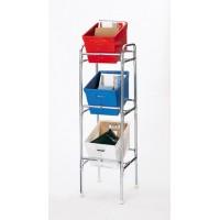 "Mail Room Furniture 17-3/8""W, Triple Tier Bulk Mail Postal Tote Rack"