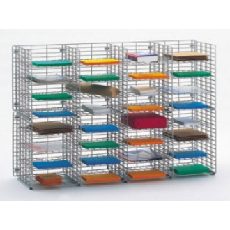"Mail Room Sorter and Office Organizer 48""W x 12""D, 32 Pocket Wire Mail Sorter, letter depth"