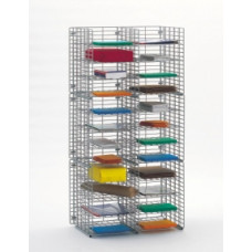"Mail Room Sorters and Office Organizers 24""W x 15""D, 24 Pocket Wire Mail Sorter, Legal Depth"