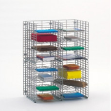"Office Organizers and Mail Room Sorters 24""W x 15""D, 16 Pocket Wire Mail Sorter, Legal Depth - FREE Quantity Shipping!"