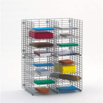 "Mail Sorter and Office Organizers 24""W X 12""D, 16 Pocket Wire Mail Sorter, Letter Depth - FREE Quantity Shipping!"