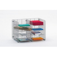 "Office Organizer and Mail Room Sorters 24""W x 12""D, 8 Pocket Wire Mail Sorter, Letter Depth"