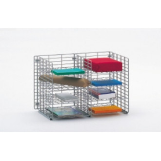 "Office Organizer and Mail Room Sorters 24""W x 12""D, 8 Pocket Wire Mail Sorter, Letter Depth - FREE Quantity Shipping!"