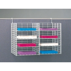 "Office Organizers and Mail Room Sorters 24""W, 8 Pocket Wire Mail Sorter with Partition Hooks - Legal Depth - FREE Quantity Shipping!"
