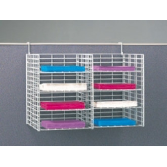 "Office Organizers and Mail Room Sorters 24""W, 8 Pocket Wire Mail Sorter with Partition Hooks - Legal Depth"