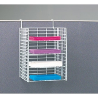 "Office Organizers and Mail Room Sorters 12""W, 4 Pocket Wire Office Organizer with Partition Hooks - Letter Depth - FREE Quantity Shipping!"
