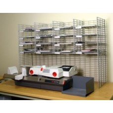 """Mail Room Sorters and Office Organizers 48""""W, 16 Pocket Wire Sorter with Riser - Letter Depth"""