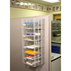 "Office Organizers and Mail Room Sorters 12""W, 8 Pocket Wire Mail Sorter with Partition Hooks - Legal Depth"