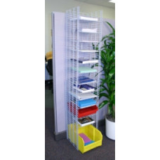 "Office Organizers and Mail Room Furniture 12""W, 12 Pocket Free Standing Wire Sorter - Letter Depth"