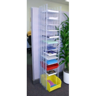 "Office Organizers and Mail Room Furniture 12""W, 12 Pocket Free Standing Wire Sorter - Legal Depth"
