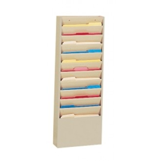 Extra Wide Wall Rack 11 Pockets - Black