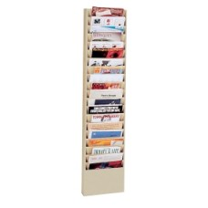 Extra Wide Wall Rack 20 Pockets - Putty