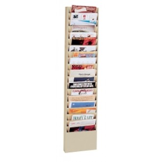 Extra Wide Wall Rack 20 Pockets - Black