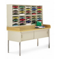 "Mailroom Furniture and Office Organizers 40 Pocket Legal Depth Sorter with 60""W x 36""D Table - Complete!!"