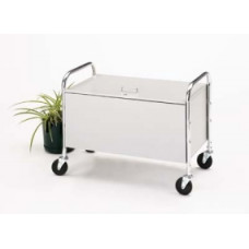 Roll Away Solid Bin Cart with Locking Lid