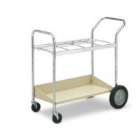 Medium Frame Mail Distribution Cart with Lower Metal Shelf