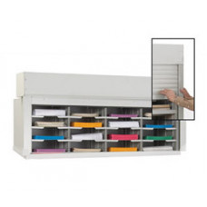 "Mail Sorter-Office Organizer with Locking Security Doors 48""W, 16 Pockets, 12-3/4"" Depth"