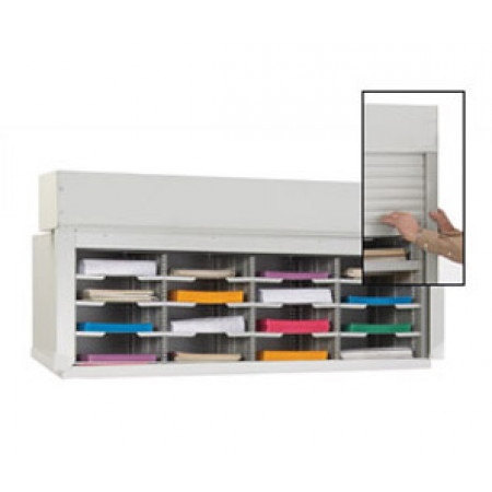 Mail Sorter Office Organizer With Locking Security Doors