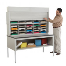 "Mail Sorter with Security Doors 60""W - 40 Pockets, 15-3/4"""