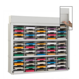 "Mail Sorter with Security Doors-60""W - 60 Pockets, 12-3/4"" Depths"
